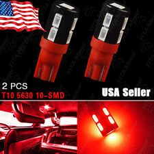 2X Red T10 921/912/906 High Power Side Wedge SAMSUNG 5630 10SMD LED Backup Light