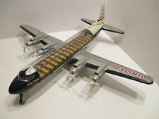 DC-7 UNITED AIRLINES WITH CLEAR CABIN ROOF--TURNING PROPS GOOD CONDITION JAPAN
