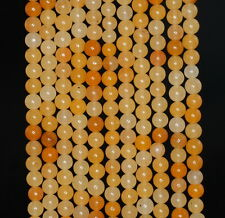 4MM YELLOW AVENTURINE GEMSTONE  ROUND LOOSE BEADS 15.5""