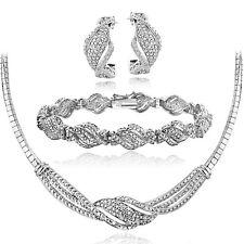 3/4 Ct Diamond Twist Necklace, Bracelet, Earrings Set