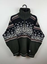 MENS VTG AZTEC CHUNKY KNIT NORWEGIAN THICK OVERSIZED SWEATSHIRT JUMPER VGC L/XL