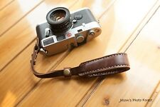 Handmade Real Leather wrist camera strap for film camera EVIL camera DSLR Brown