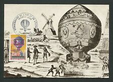 FRANCE MK BALLON BALLOON MONTGOLFIERE MAXIMUMKARTE MAXIMUM CARD MC CM d2145