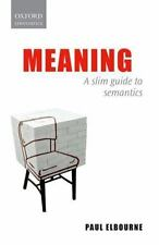 Meaning: A Slim Guide to Semantics-ExLibrary