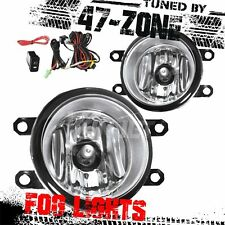 For 2012-15 Toyota Tacoma Clear Lens Chrome Housing Replacement Fog Lights Pair