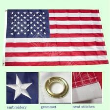 3x5 Ft American Nylon Deluxe Embroidered Stars Sewn Stripes Flag
