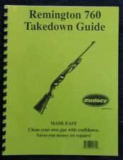 Remington Models 760, 7600, 6   Takedown Disassembly Assembly Guide Radocy  NEW