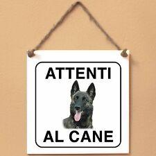 Cane da pastore olandese 2 Attenti al cane Targa piastrella cartello