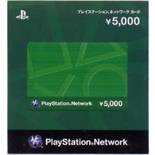play station network card 5000 Yen japan japanese PSN PSP PSV PS4 VITA PS3 jp
