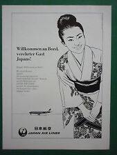 1960'S PUB JAPAN AIR LINES JAL AIRLINE JAPON / OFEMA PAUL LENGELLE GERMAN AD