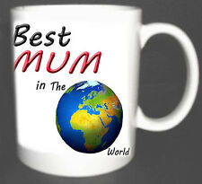BEST MUM IN THE WORLD COFFEE MUG.GIFT PERSONALISED WITH NAMES FREE OF CHARGE
