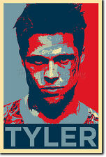 TYLER DURDEN ART PHOTO PRINT POSTER GIFT (OBAMA HOPE STYLE) FIGHT CLUB BRAD PITT