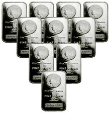 Special Price! Lot of 10 - Morgan Dollar Design 1 Oz .999 Silver Bars SKU29388