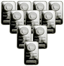 Lot of 10 - Morgan Dollar Design 1 Oz .999 Fine Silver Bars SKU29388