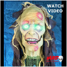 Animated zombie porte accueil-décoration halloween prop moving + talking effrayant!!!