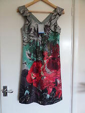 NEW Oasis 100% Silk Wedding Evening Holiday Dress Size UK 6 EU 32 RRP £65