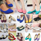 Ladies Ballerina Dolly Microsuede Pump Womens Patent Shoes Casual Slippers Flats