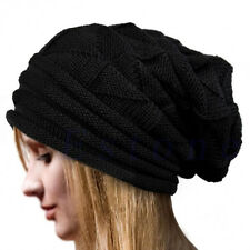 Unisex Women Winter Knit Baggy Beanie Oversize Winter Hat Ski Slouchy Cap Skull