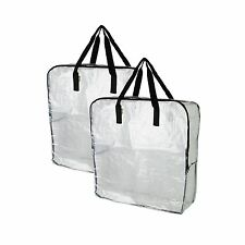 2 x IKEA DIMPA Large Clear/Transparent Plastic Zipped Storage Bags