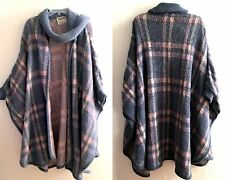 AUTH VTG TUNDRA WINTER HEAVY PONCHO WOOL CAPE MADE IN CANADA