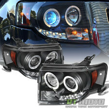 Black 2008-2012 Ford Escape LED Halo Projector Headlights Headlamps Left+Right