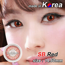 RED eye color contacts lenses Crazy Halloween Cosmetic Makeup Cosplay - SBI