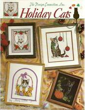 Holiday Cats Mary Ellen Yanich Design Connection Cross Stitch Patterns NEW