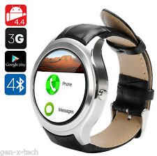 3G GSM Android Mobile Phone Smart Watch: Pedometer Heart Rate GPS Barometer