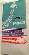 1960s Motoring In France Travel Tourism Brochure English