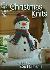 KNITTING PATTERN BOOK Christmas Knits 1 Santa Hat Snowman Cosy King Cole