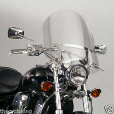 "Yamaha XV 250 V-Star / Virago / Route 66 Clear 20"" Windshield w/chrome hardware"