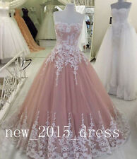 Custom Ball Gown Formal Evening Dresses Tulle Prom Party Pageant Wedding Dress
