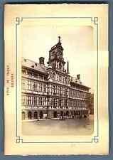 Belgique, Anvers, L'Hôtel de Ville  Vintage albumen print. Vintage Belgium.