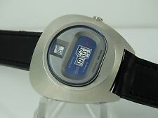 NOS CONDITION! OLD RENIS TAXI DIGITAL AUTOMATIC SWISS ASSYMETRIC WATCH CASE