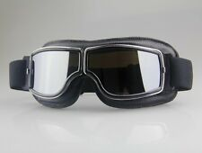 Aviator Motorcycle&Bicycle Scooter ATV Goggles Tactical Eyewear Silver Lens