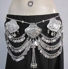 Womens Coin Belt | Tribal Boho Gypsy Festival Belly Dance Costume Skirt Jewelry