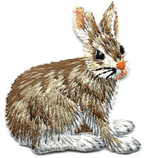 RABBIT, FOREST ANIMAL- Iron On Embroidered Applique/Bunny, Cute Critters