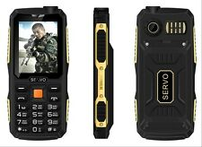 Quad Sim Original SERVO V3 mobile phone Dustproof Shockproof 2.4'' Phone 4 SIM