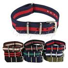 18mm Men's Military Nylon Wrist Watch Band Strap 260mm For All Watches Fashion