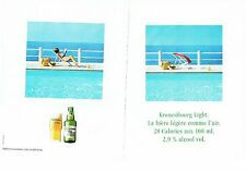 PUBLICITE ADVERTISING 017  1990  La bière Kronenbourg light (2p) 2