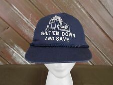Shut 'Em Down and Save Trucker Hat Cap  Snap Back One Size Rope Braid