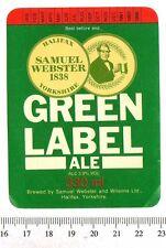 UK Beer Label - Samuel Webster Brewery - Yorkshire - Green Label Ale (version f)