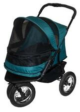 Pet Gear No-Zip Double Pet Stroller, Pine Green PG8700NZPG Pet Stroller NEW