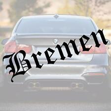Schriftzug Bremen 60cm Fußball Aufkleber Farbe + Schrift nach Wahl!