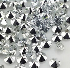 High quality100pcs6mm White Crystal beads Point back Rhinestones Resin Chatons