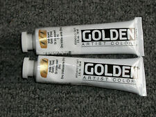 Golden Acrylics 2-ounce 2 tubes Iridescent Gold ( fine )