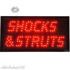 "New LED Shocks Struts Mechanics Car Truck Repair Shop LED Open Sign 19x10"" neon"