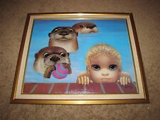 "MARGARET KEANE ""23""x28"" ""Weekend Ball Game"" Signed AP 25/75 Giclee Canvas Otter"