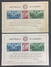 SAN MARINO # 239 PERF AND IMPERF SOUVENIR SHEETS OF 6 MINT NH VF