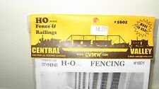 Central Valley Model Works HO scale Fence and Railings Kit #1601 New